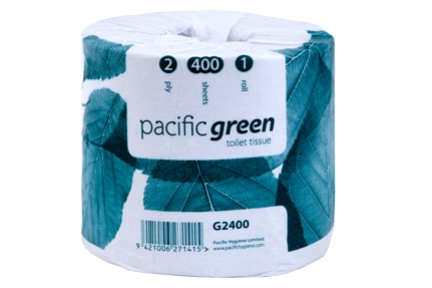 PH GREEN RECYCLED WRAPPED TOILET ROLLS 2ply 400s 48roll FSC