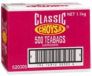 CHOYSA TEA BAGS TAGLESS 500box