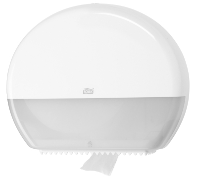 TORK JUMBO TOILET TISSUE DISPENSER  WHITE T1