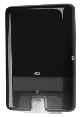 TORK SLIMLINE TOWEL DISPENSER BLACK H2