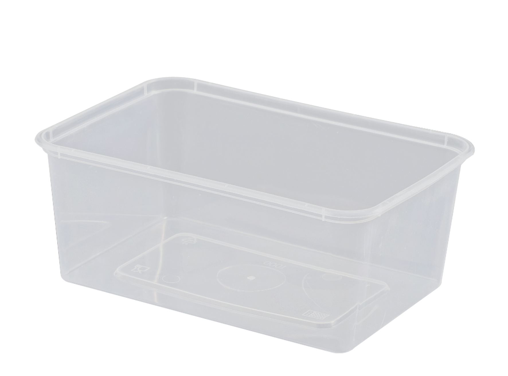 UP FREEZER GRADE RECTANGLE CONTAINER  1000ML  50SLV