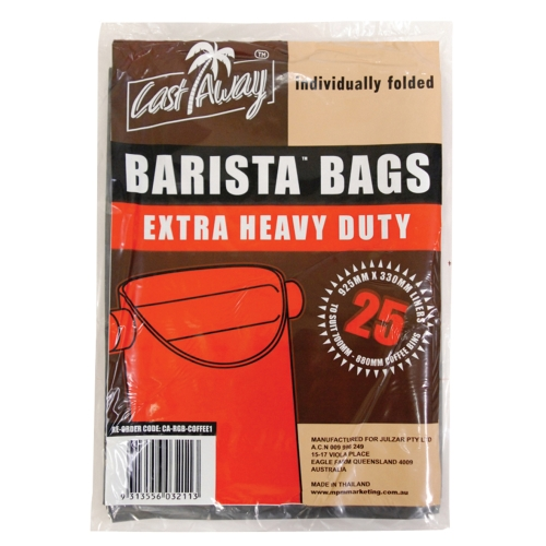 CASTAWAY COFFEE WASTE BARISTA BAGS BLACK 25pk
