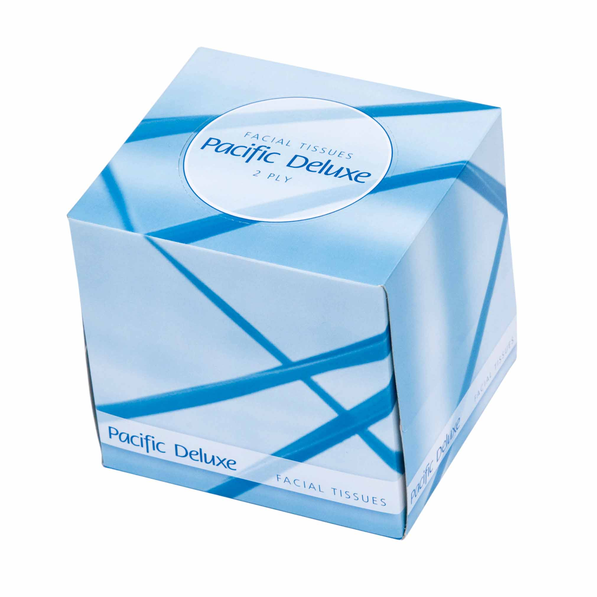 PH DELUXE FACIAL TISSUE CUBED 2PLY 90s X 48ctn
