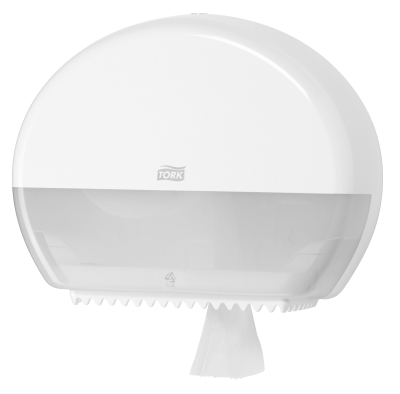 TORK MINI JUMBO TOILET TISSUE DISPENSER WHITE T2