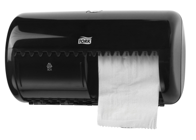 TORK TWIN ROLL TOILET TISSUE DISPENSER BLACK T4