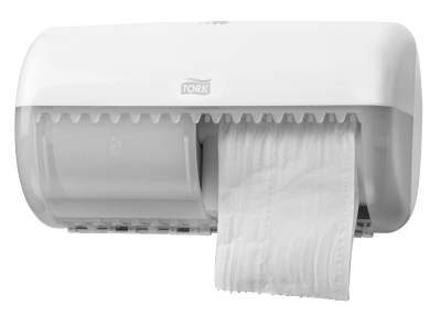 TORK TWIN ROLL TOILET TISSUE DISPENSER WHITE T4