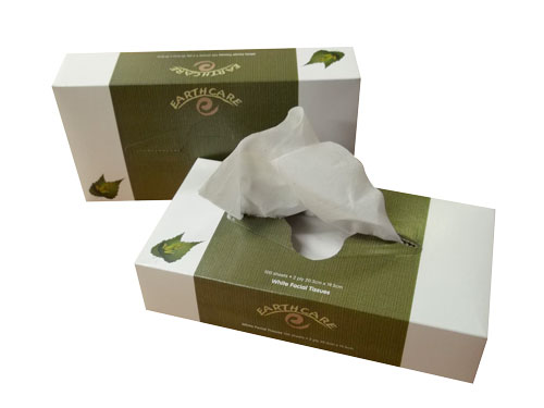 EARTHCARE RECYCLED 2ply FACIAL TISSUE 100box