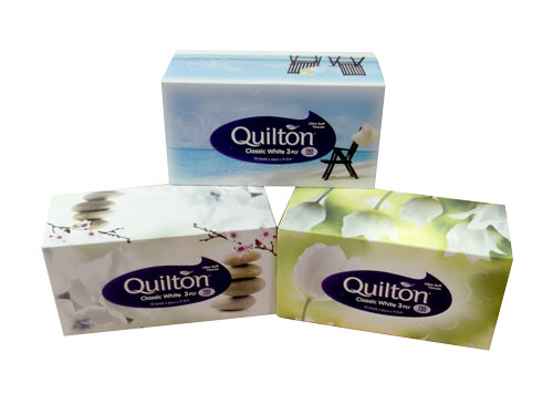 QUILTON LUXURY 3ply FACIAL TISSUE 110s PACK