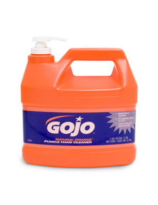 GOJO ORANGE PUMICE HAND CLEANER & PUMP 3.8Ltr