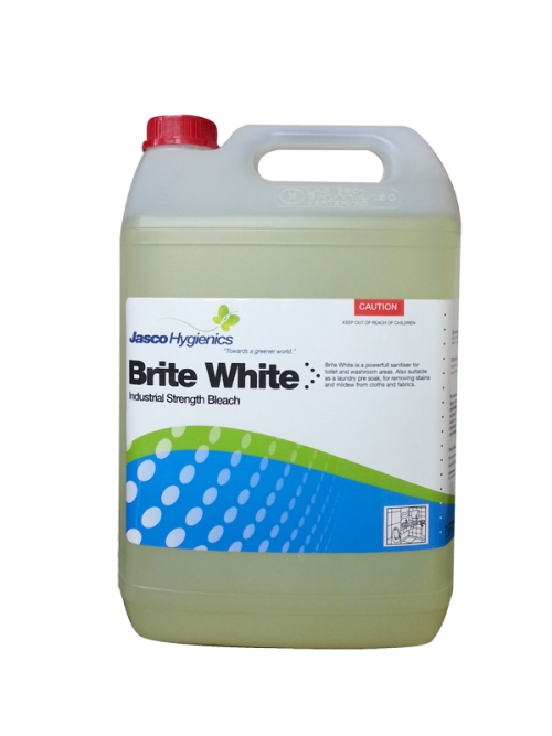 JASCO BRITE WHITE 4% INDUSTRIAL BLEACH 5Ltr