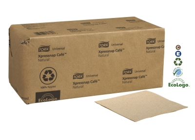 XPRESSNAP N10 CAFE NAPKINS NATURAL 12x500pk 6000CN