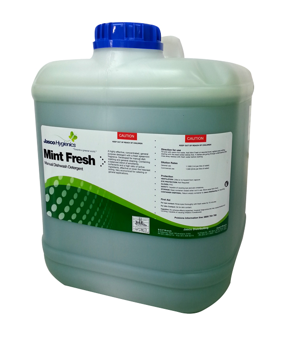 JASCO MINT FRESH MANUAL DISHWASH DETERGENT 20Ltr