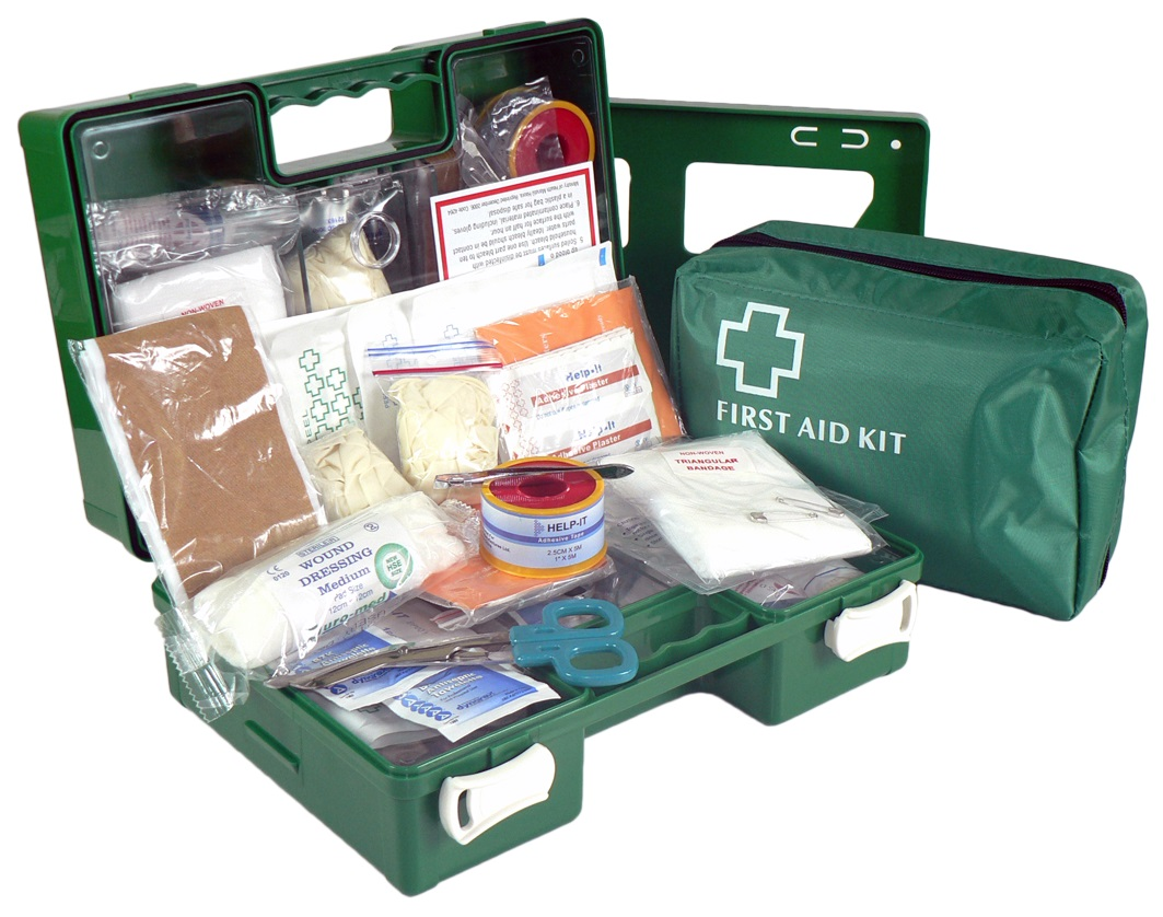 FIRST AID KIT INDUSTRIAL 1-5 PEOPLE WALL MOUNT