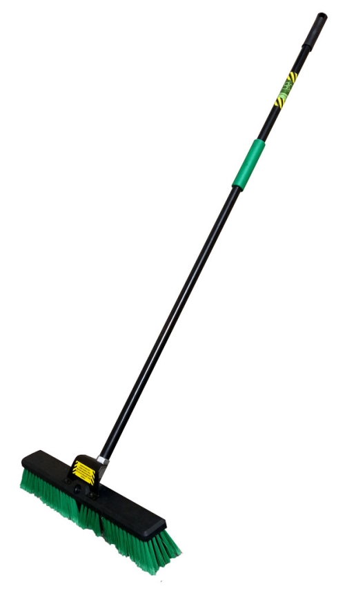 BROWNS ORANGE MAXI PLATFORM BROOM 356mm + HANDLE