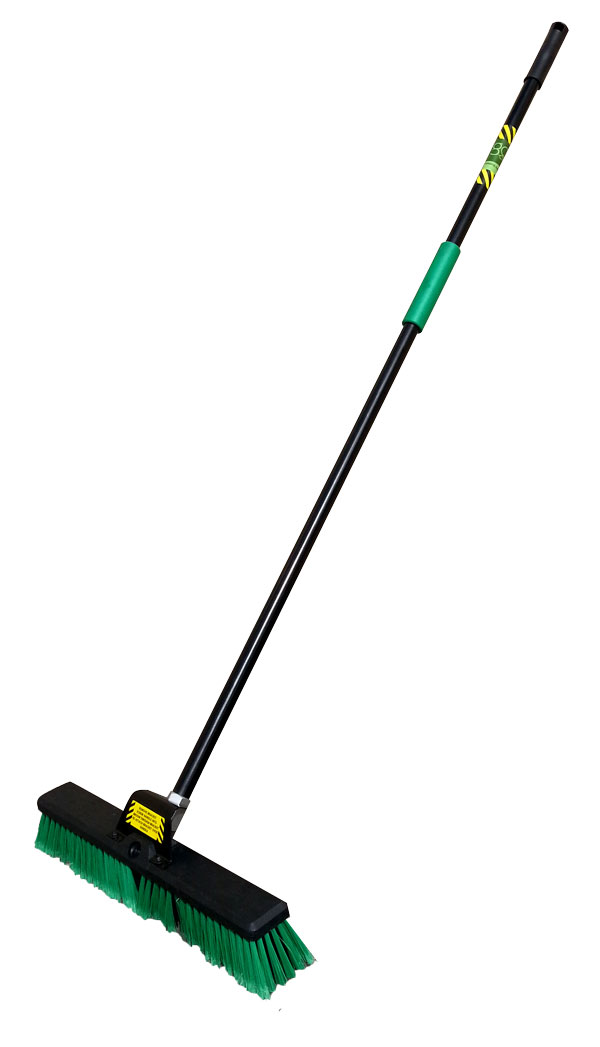 BROWNS ORANGE PLATFORM BROOM 356mm + HANDLE