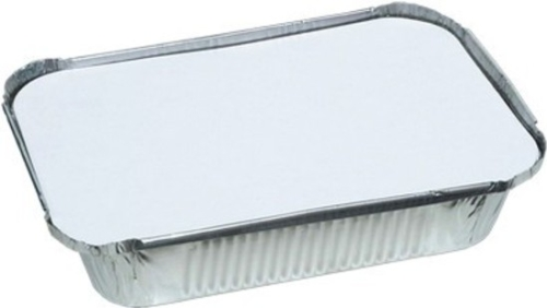 FOIL RECTANGLE TRAY & LID 226x165x40mm 125pk