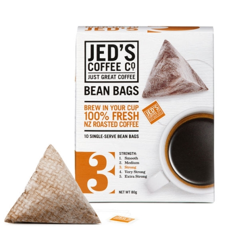 JEDS COFFEE BEAN BAG  #3  BULK PACK 8g x 100ctn
