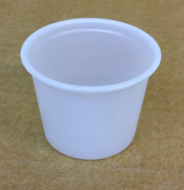 CASTAWAY PORTION CUP 30ml PP CLEAR 250/SLV