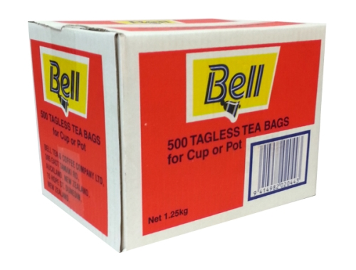 BELL TAGLESS TEA BAGS 500ctn