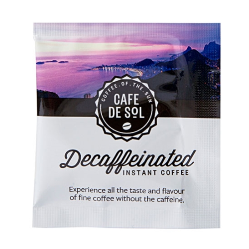 CAFE DE SOL DECAF COFFEE SACHETS  500ctn
