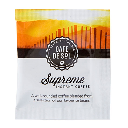CAFE DE SOL SUPREME COFFEE SACHETS 500ctn