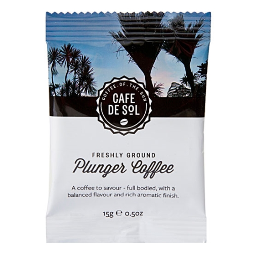 CAFE DE SOL PLUNGER COFFEE 15g 100ctn