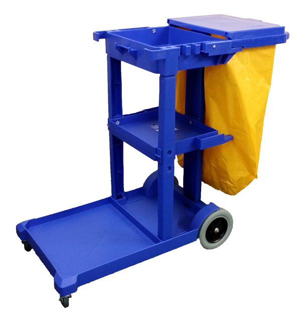 STANDARD JANITOR TROLLEY WITH LAUNDRY BAG