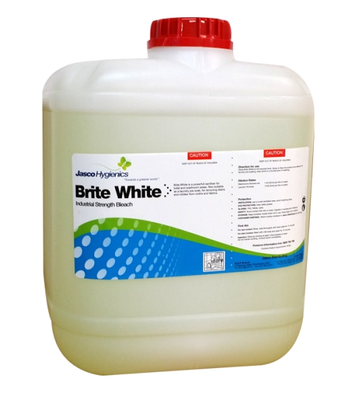 JASCO BRITE WHITE 4% INDUSTRIAL BLEACH 20Ltr