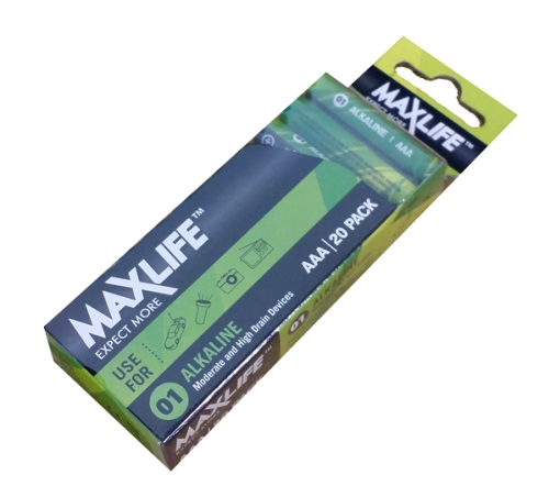 MAXLIFE ALKALINE BATTERY AAA 20pk