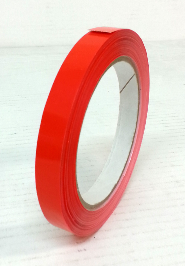 BAG NECK SEAL TAPE RED 12mm x 66mtr