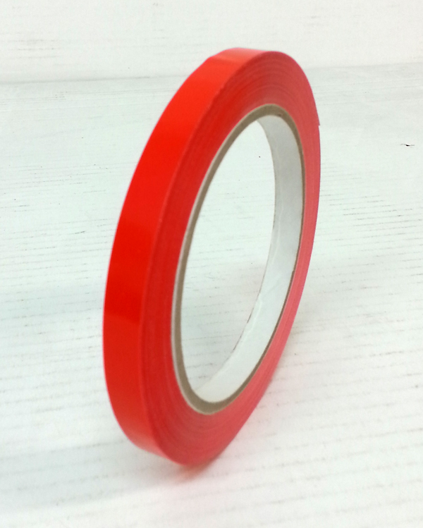 BAG NECK SEAL TAPE RED 9mm X 66mtr
