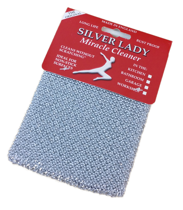 SILVER LADY NON SCRATCH CLEANING PAD ea