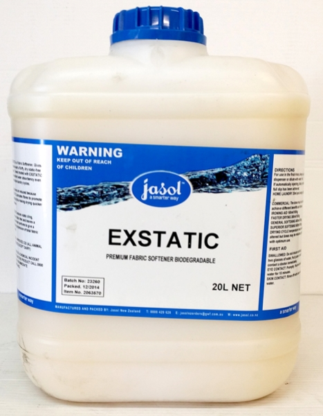 JASOL EXSTATIC FABRIC SOFTENER 20Ltr