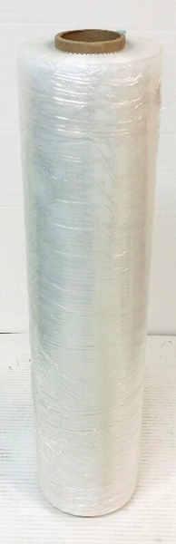PALLET WRAP CLEAR HAND STRETCH 500mm X 450m 20mu