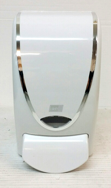 DEB SOAP 1ltr DISPENSER WHITE CHROME