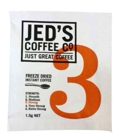 JEDS FREEZE DRIED COFFEE SACHETS 500CTN