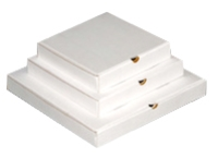"PIZZA BOX 9"" WHITE CORRO 100 PACK"