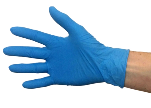 BLUE LATEX GLOVES POWDERED LARGE 100 pack