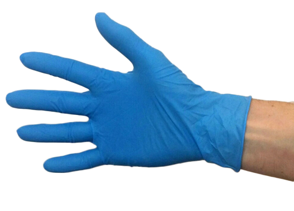 BLUE LATEX GLOVES POWDER FREE LRG 100