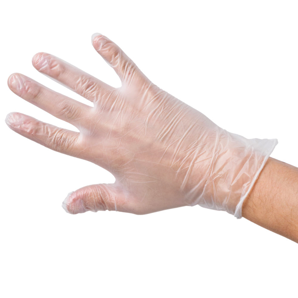 HYTEC CLEAR VINYL GLOVES SMALL POWDER FREE       100