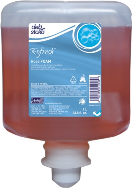 DEB STOKO REFRESH ROSE FOAM SOAP 1ltr