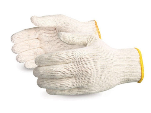 POLYCOTTON KNITTED GLOVES MENS 12pairs