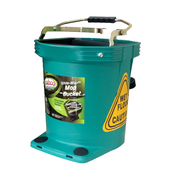 SABCO WIDE MOUTH 16L WRINGER BUCKET GREEN