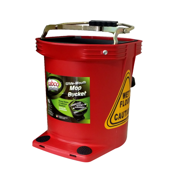 SABCO WIDE MOUTH 16L WRINGER BUCKET  RED
