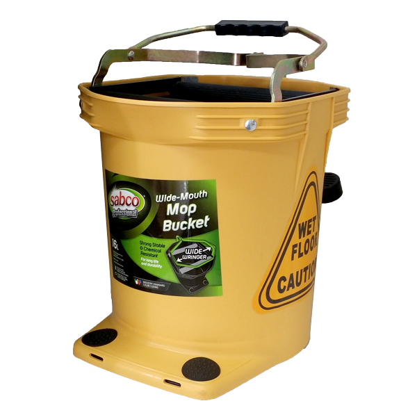 SABCO WIDE MOUTH 16L WRINGER BUCKET YELLOW