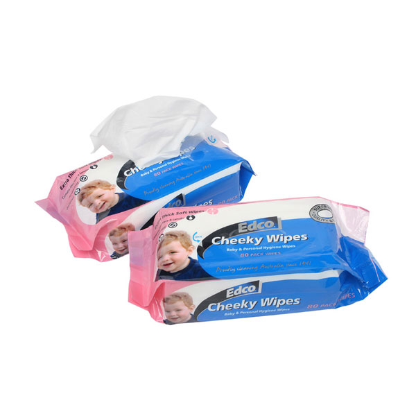 EDCO CHEEKY WET WIPES EXTRA THICK  80pk