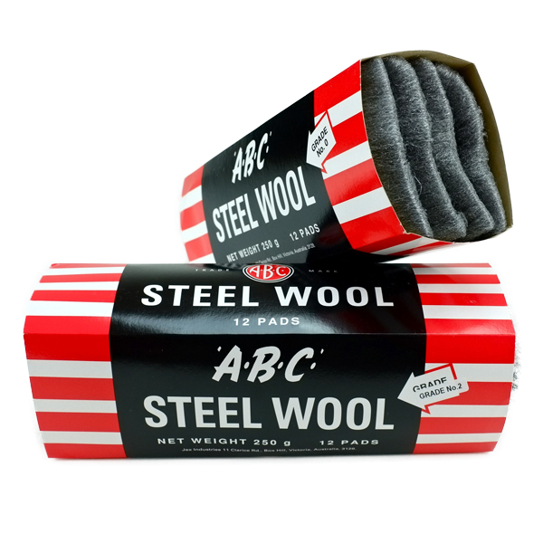 ABC STEEL WOOL GRADE #0000 SUPER FINE 12pk