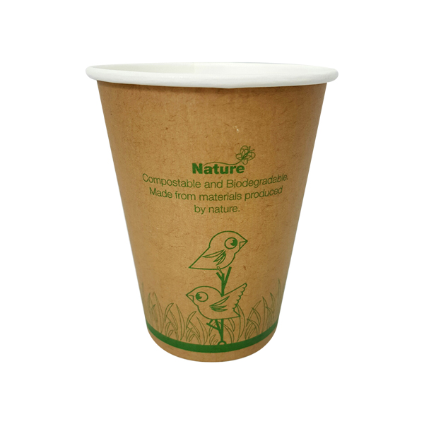 NATURE ECOCUP 12oz  SINGLE WALL 50slv