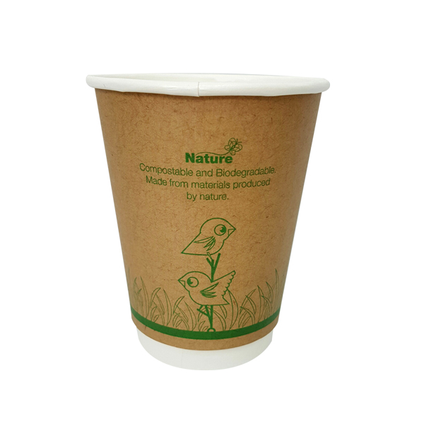 NATURE ECOCUP 12oz  DOUBLE WALL 25slv
