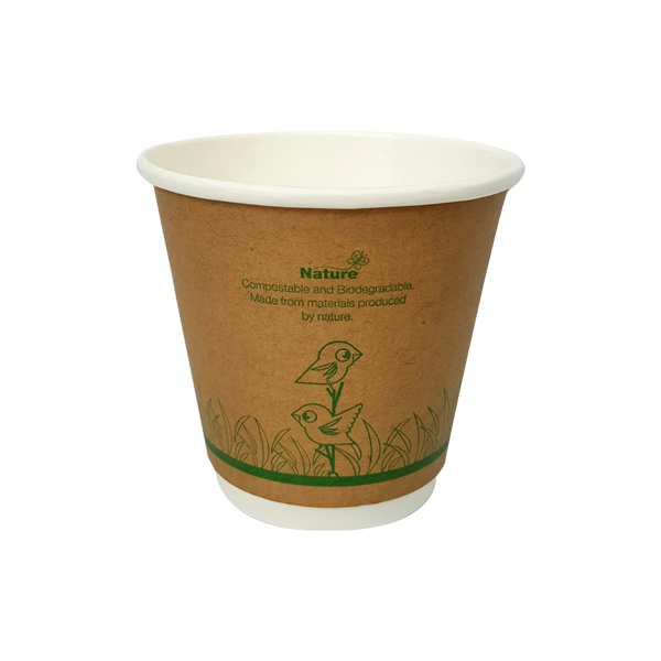 NATURE ECOCUP 8oz  DOUBLE WALL 25slv